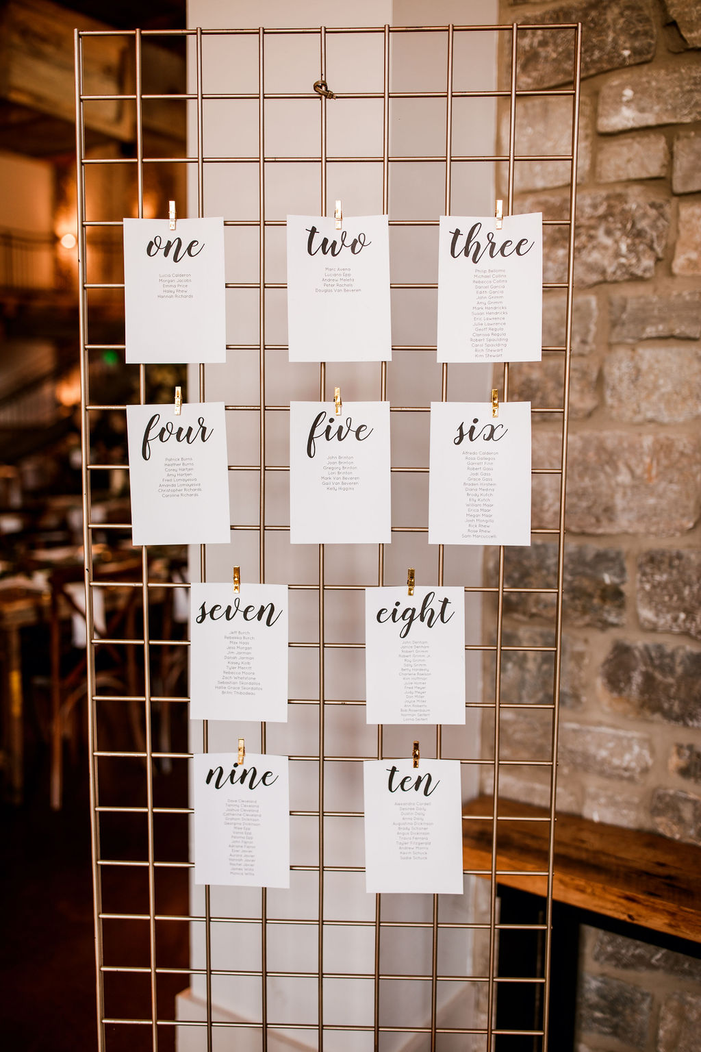 Wedding Table Number Display: Beautiful Graystone Quarry Wedding featured on Nashville Bride Guide!