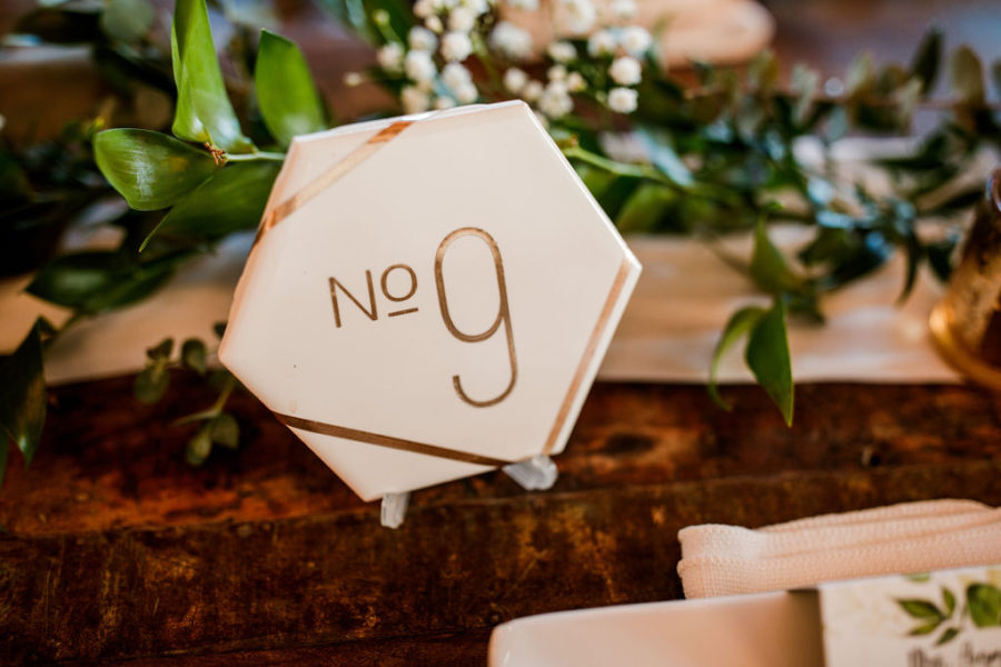 Geometric Modern Wedding Table Numbers featured on Nashville Bride Guide