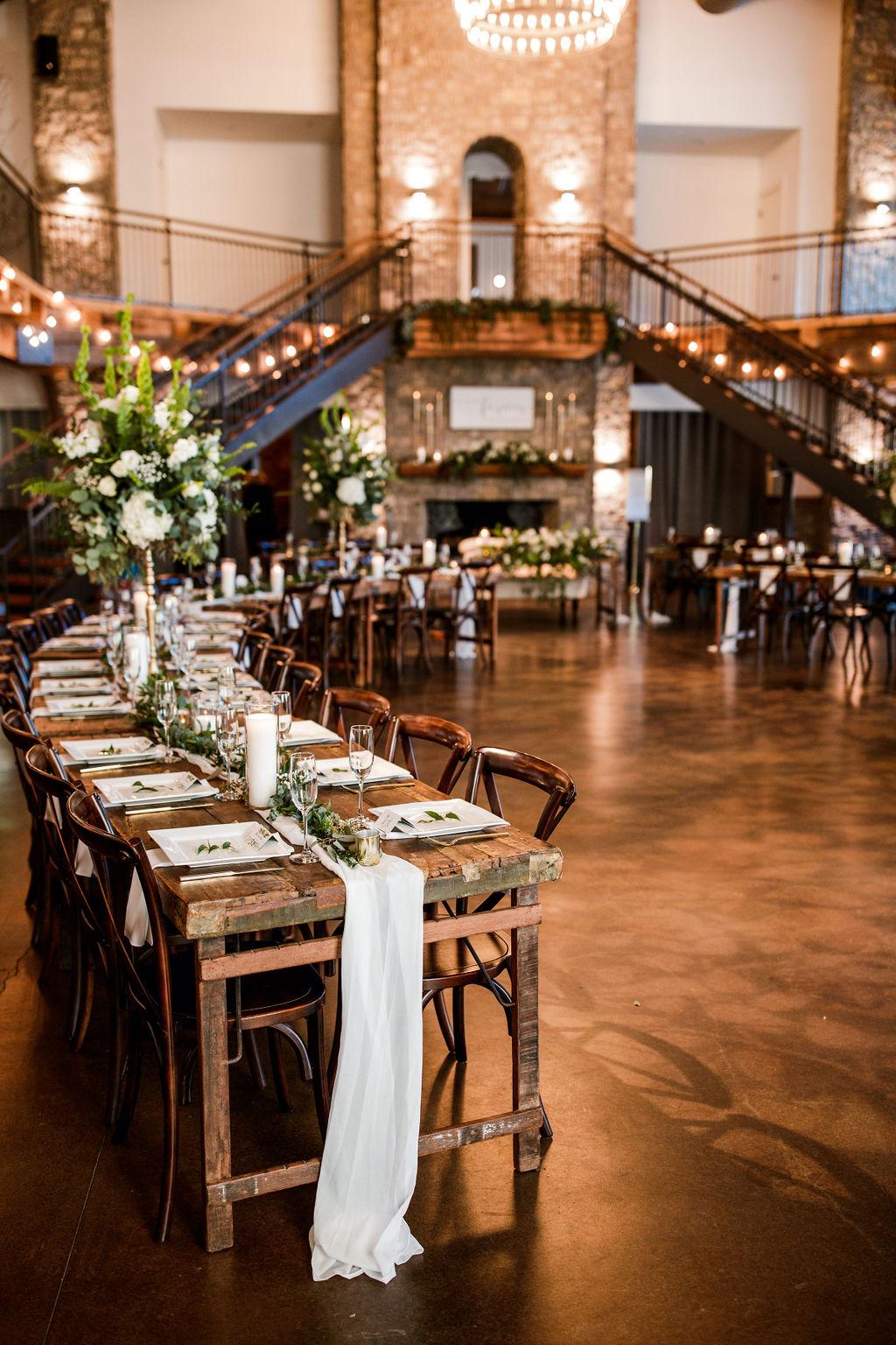 Wedding Reception Layout Inspiration featured on Nashville Bride Guide!