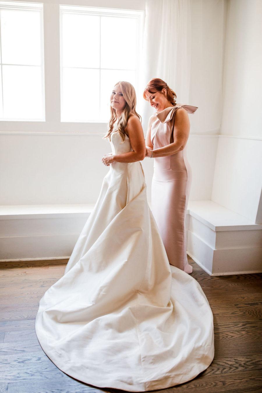 Satin Wedding Dress: Beautiful Graystone Quarry Wedding captured by John Myers Photography & Videography