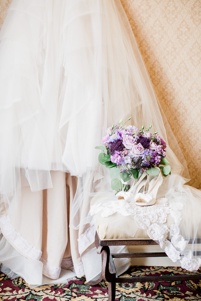 Purple Wedding Bouquet captured by Amanda May Photos featured on Nashville Bride Guide