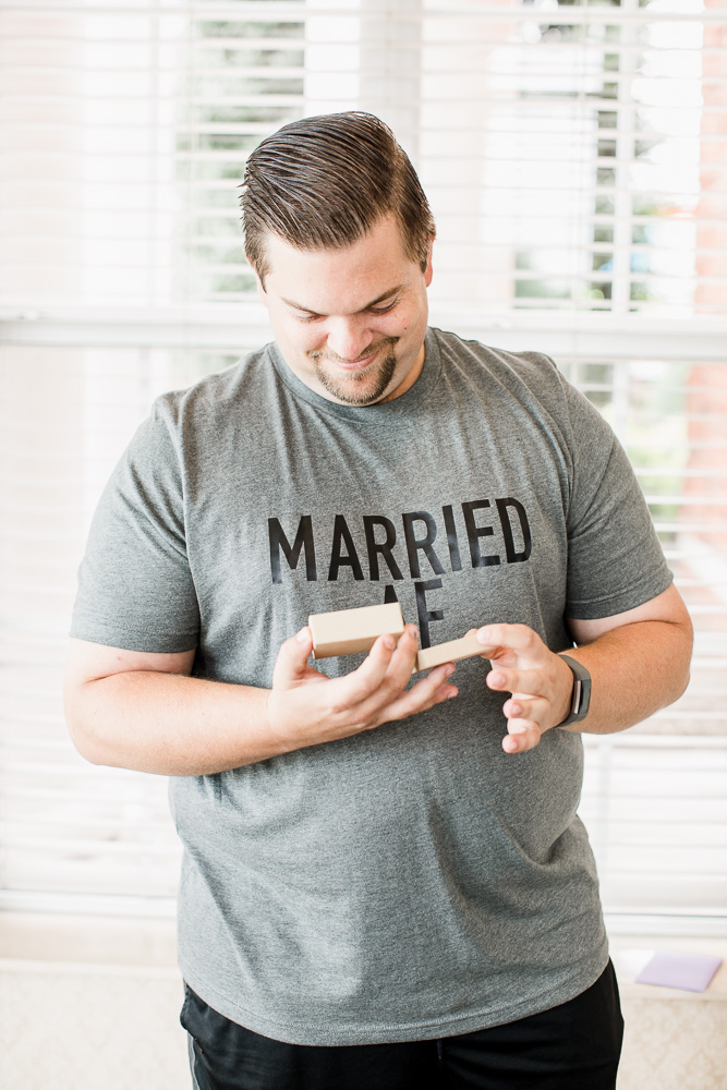 Grooms T-Shirt captured by Amanda May Photos featured on Nashville Bride Guide