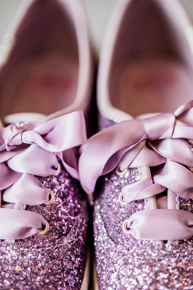 Sparkly Purple Wedding Shoes captured by Amanda May Photos featured on Nashville Bride Guide
