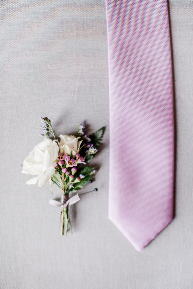 Lilac Grooms Tie captured by Amanda May Photos featured on Nashville Bride Guide
