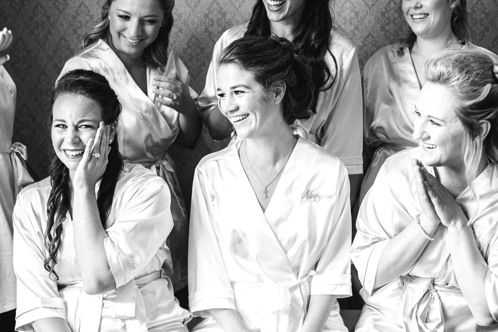Bridal Party Getting Ready captured by Amanda May Photos featured on Nashville Bride Guide