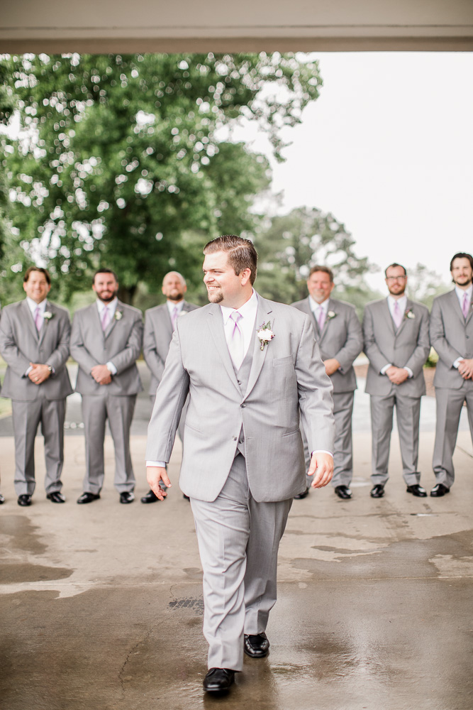 Gray Mens Wearhouse Tuxedo captured by Amanda May Photos featured on Nashville Bride Guide
