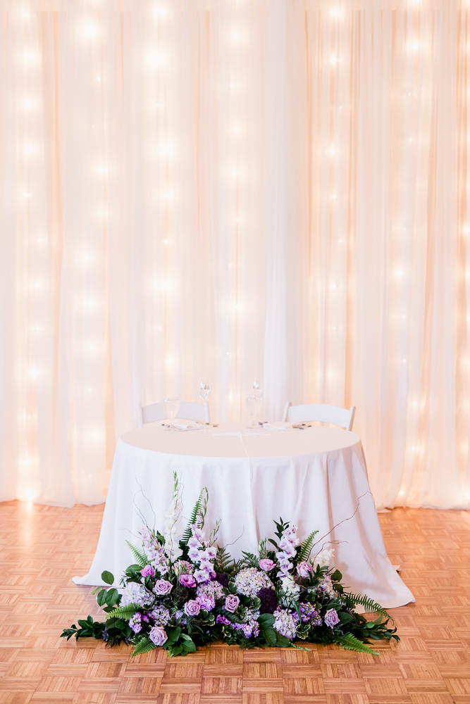 Wedding Sweetheart Table: Stones River Country Club Wedding featured on Nashville Bride Guide