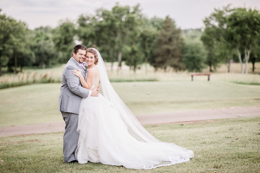 Outdoor Wedding Portrait: Stones River Country Club Wedding featured on Nashville Bride Guide