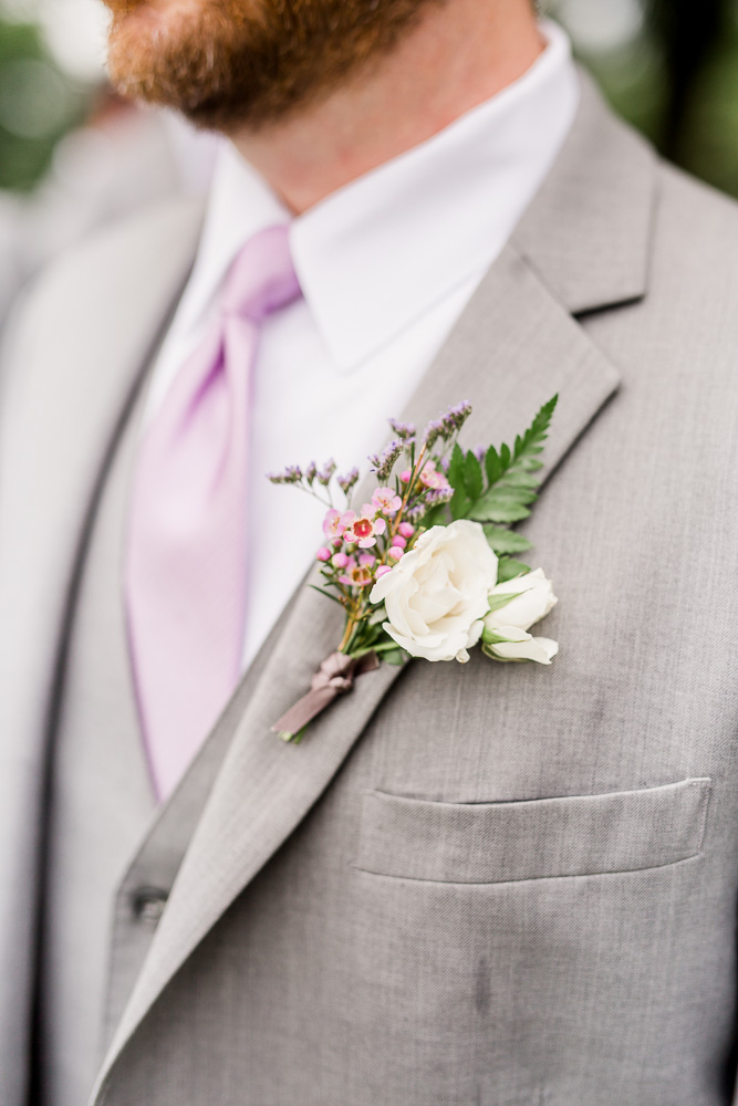 Grooms Boutonniere: Stones River Country Club Wedding featured on Nashville Bride Guide