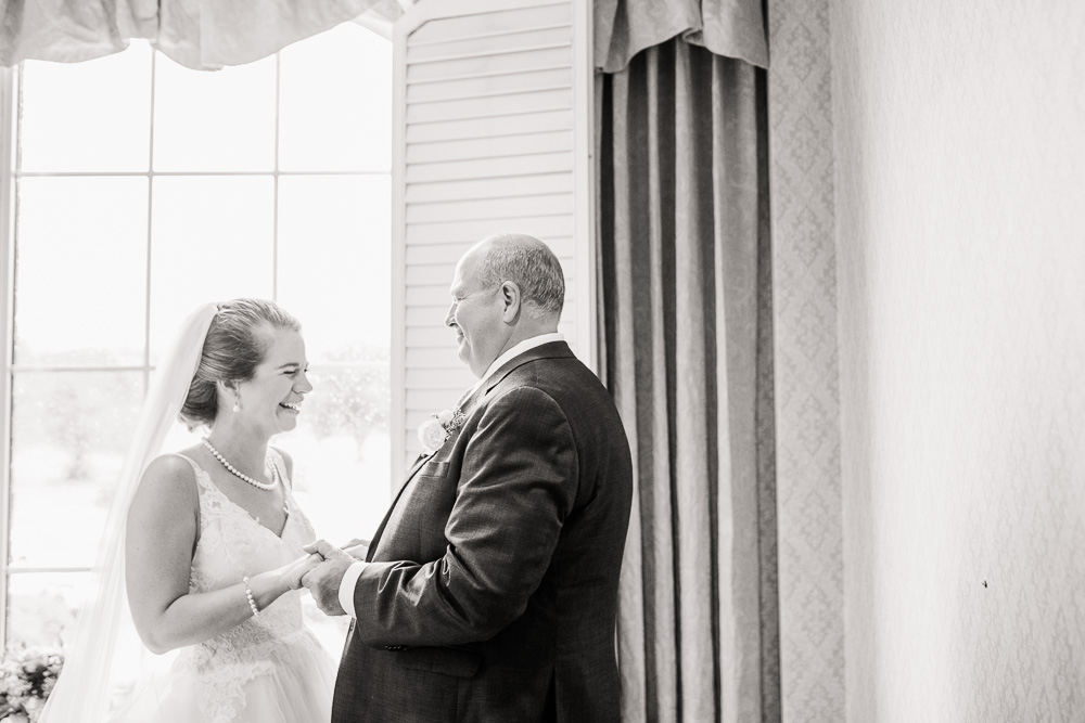 Father Daughter First Look captured by Amanda May Photos featured on Nashville Bride Guide