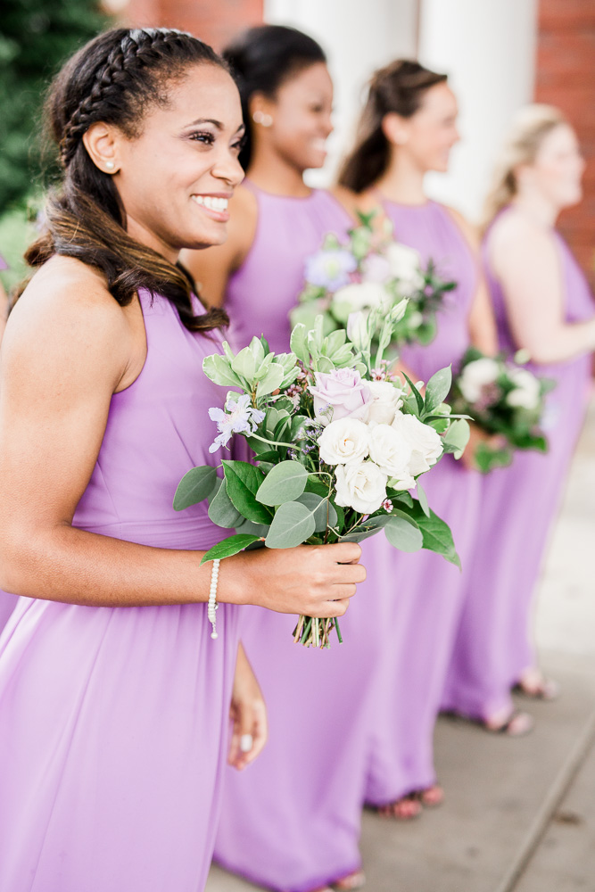 White and Greenery Wedding Bouquet captured by Amanda May Photos featured on Nashville Bride Guide