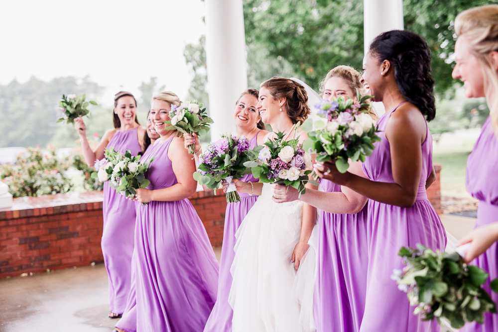 Purple Bridesmaid Dresses captured by Amanda May Photos featured on Nashville Bride Guide