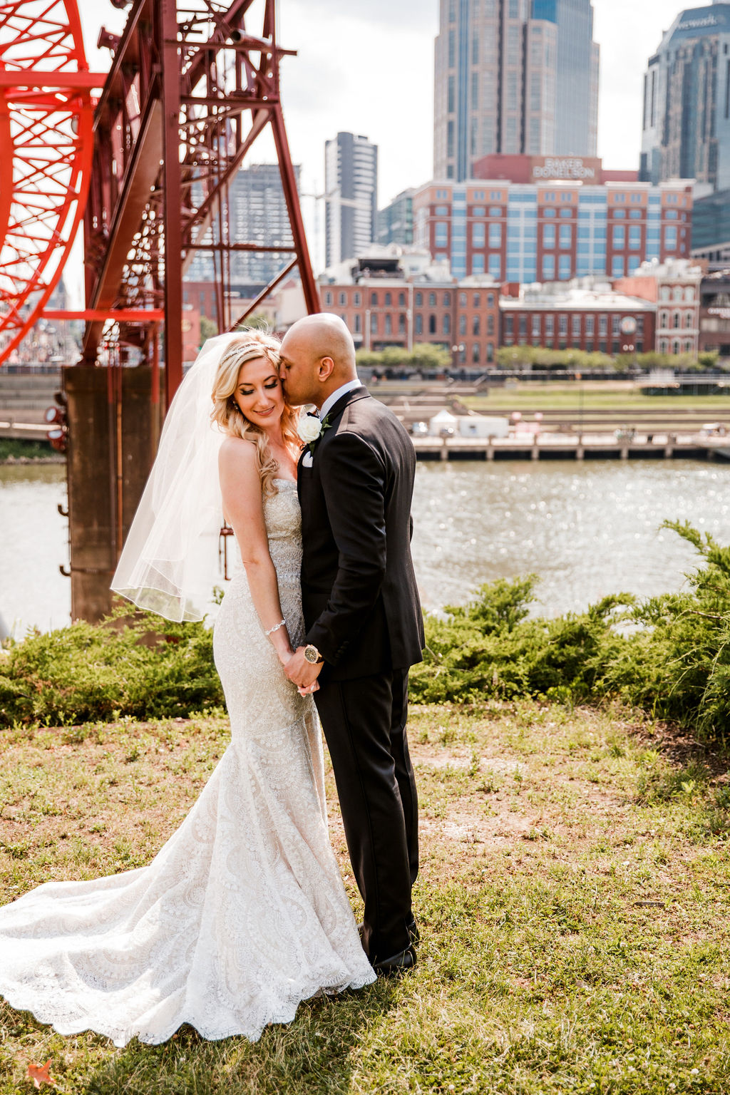 Nashville Wedding First Look: Bollywood Meets Traditional Wedding at The Bridge Building