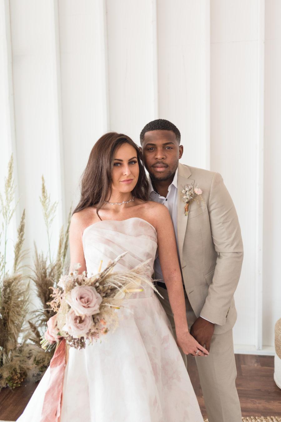 Organic Blush Wedding Inspiration captured by Mandy Liz Photography