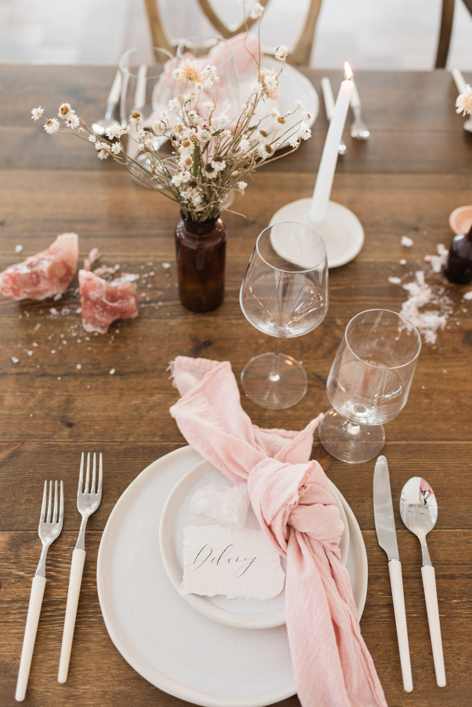 Organic Blush Wedding Inspiration captured by Mandy Liz Photography
