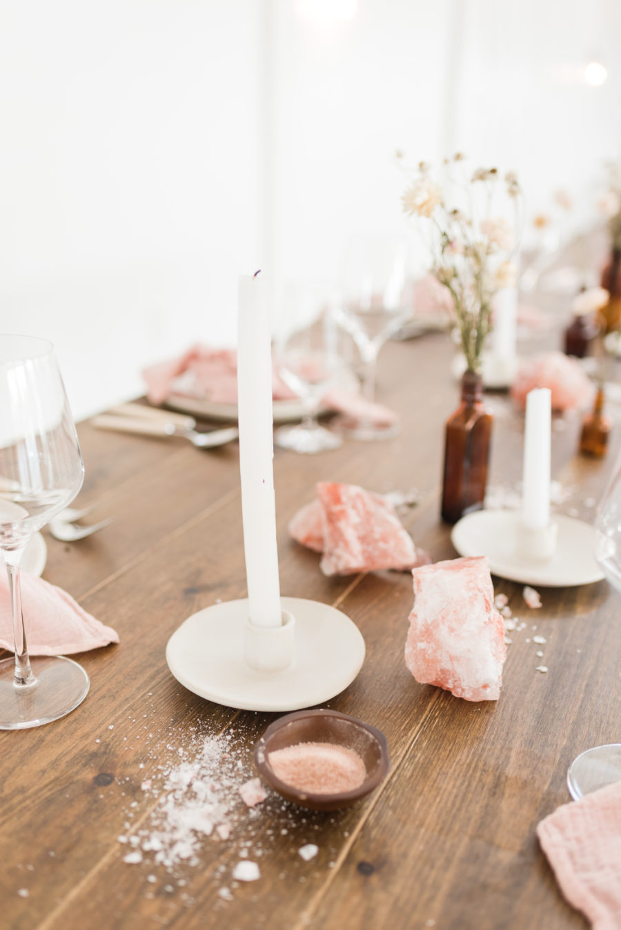 Candle Wedding Centerpiece: Organic Eco-Friendly Wedding Styled Shoot featured on Nashville Bride Guide