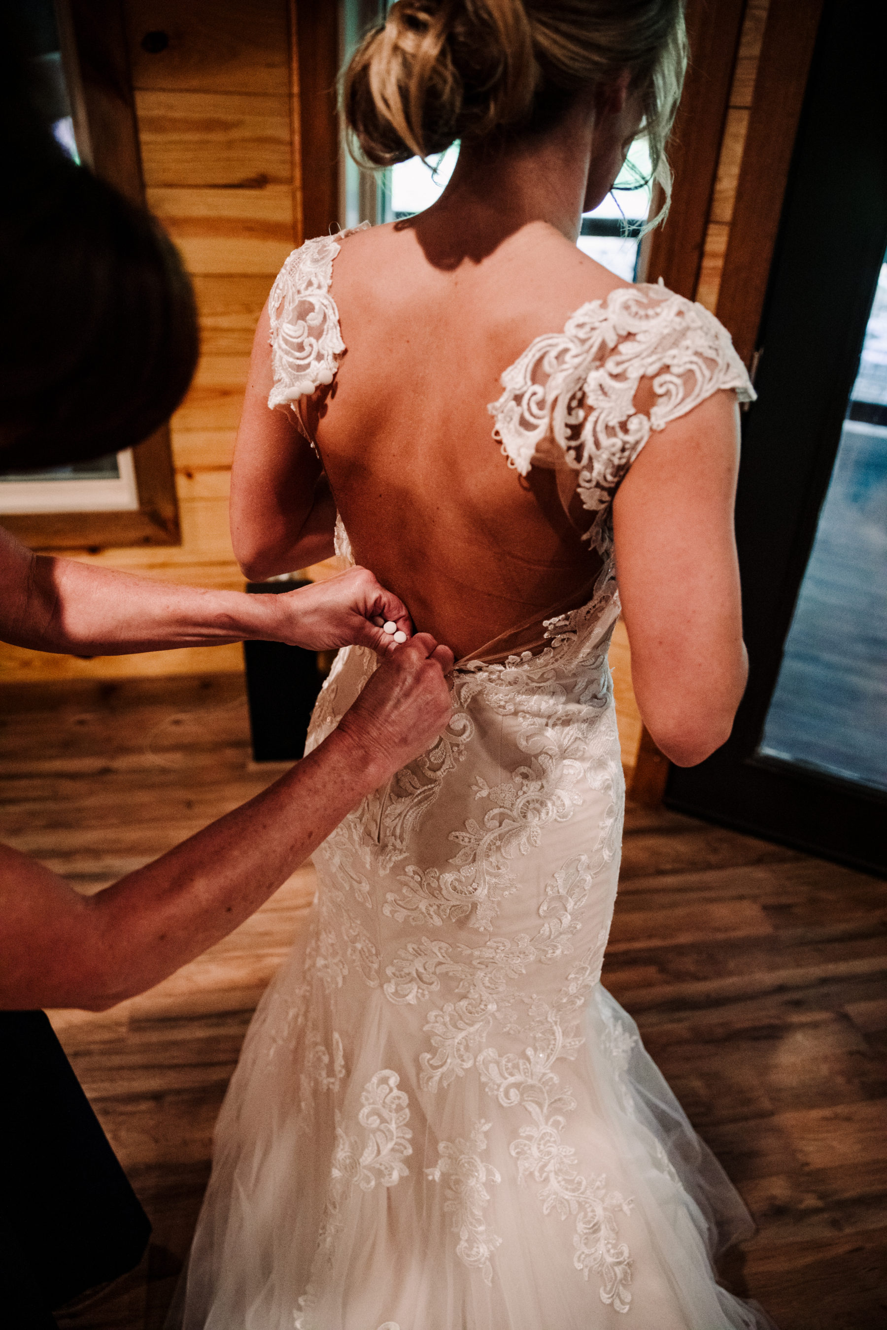 Wedding Dress Details: Minimalistic Barn Wedding featured on Nashville Bride Guide