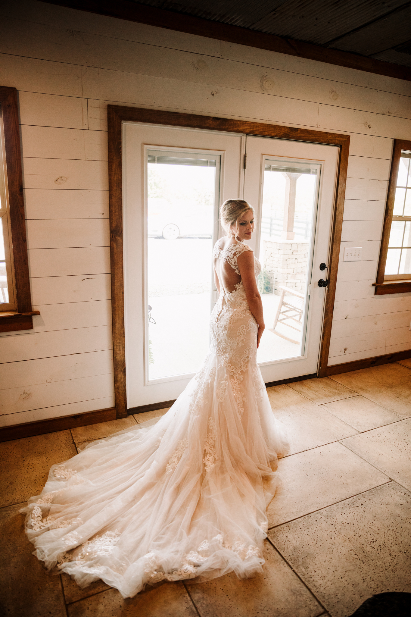 Stella York Wedding Dress: Minimalistic Barn Wedding featured on Nashville Bride Guide