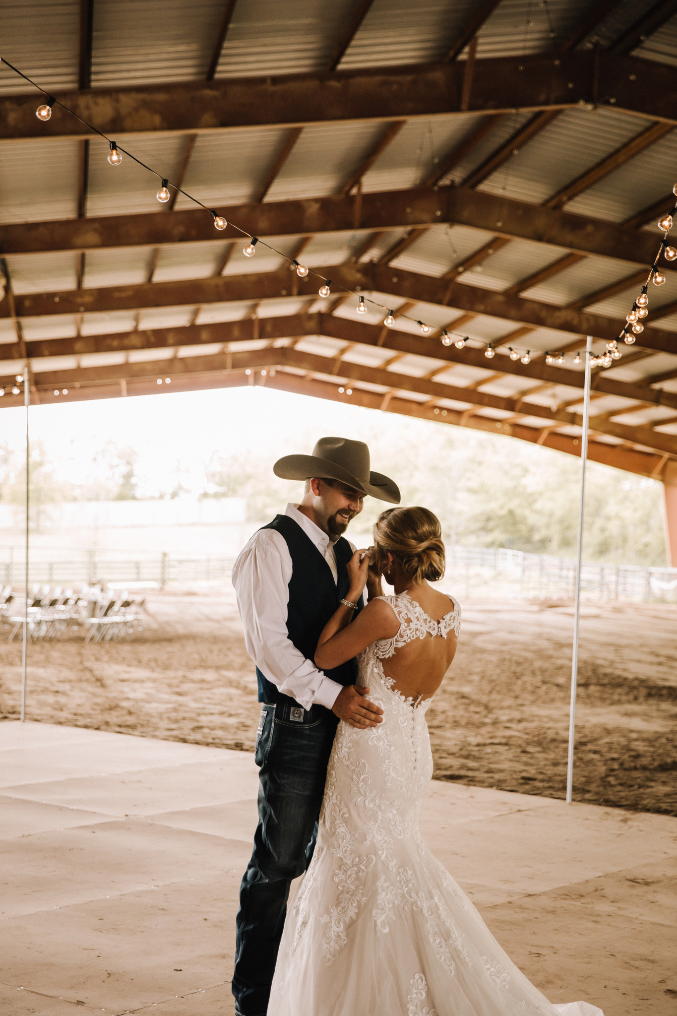 Wedding First Look: Minimalistic Barn Wedding featured on Nashville Bride Guide