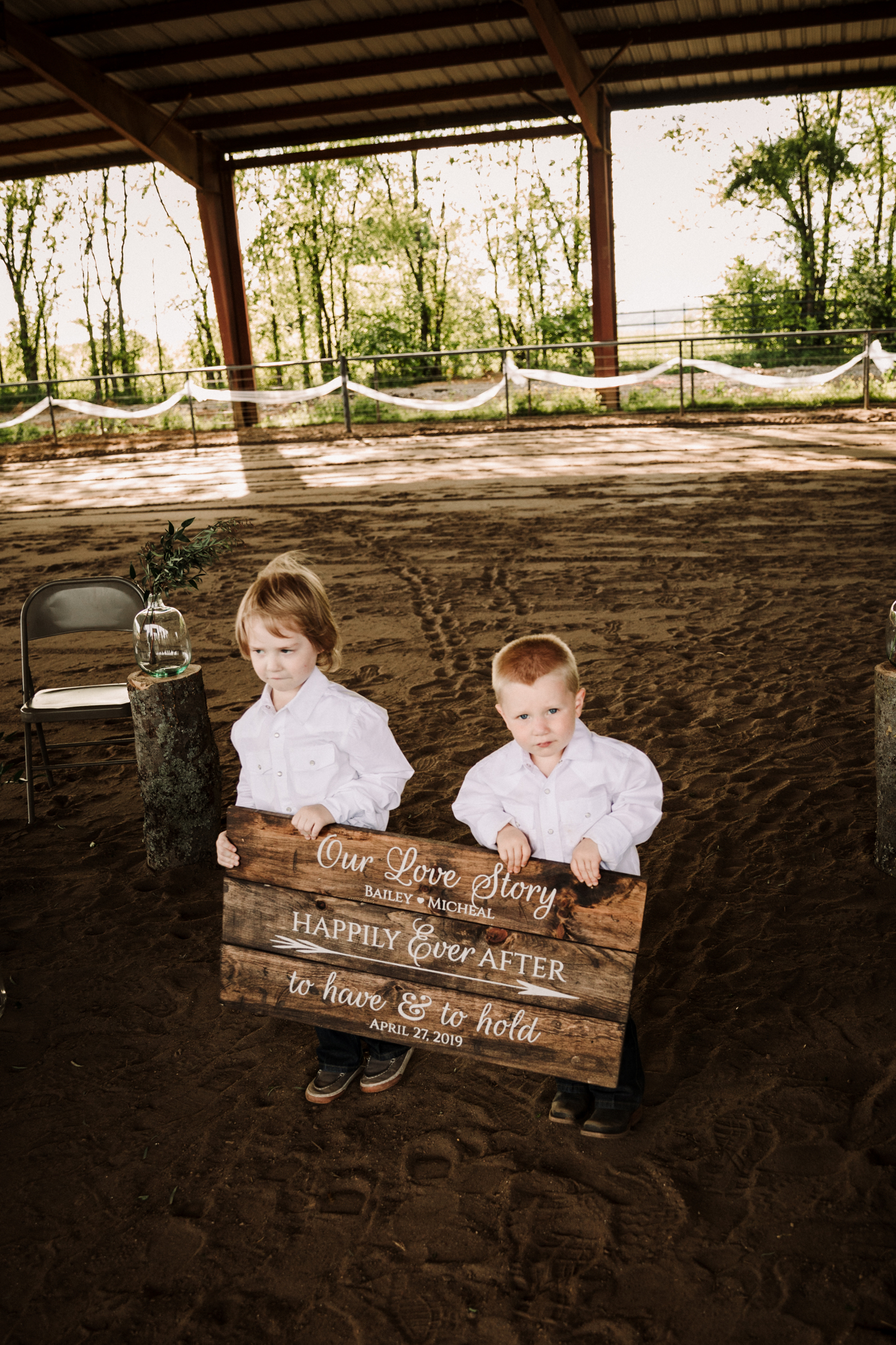Ring Bearers Wedding Sign: Minimalistic Barn Wedding featured on Nashville Bride Guide