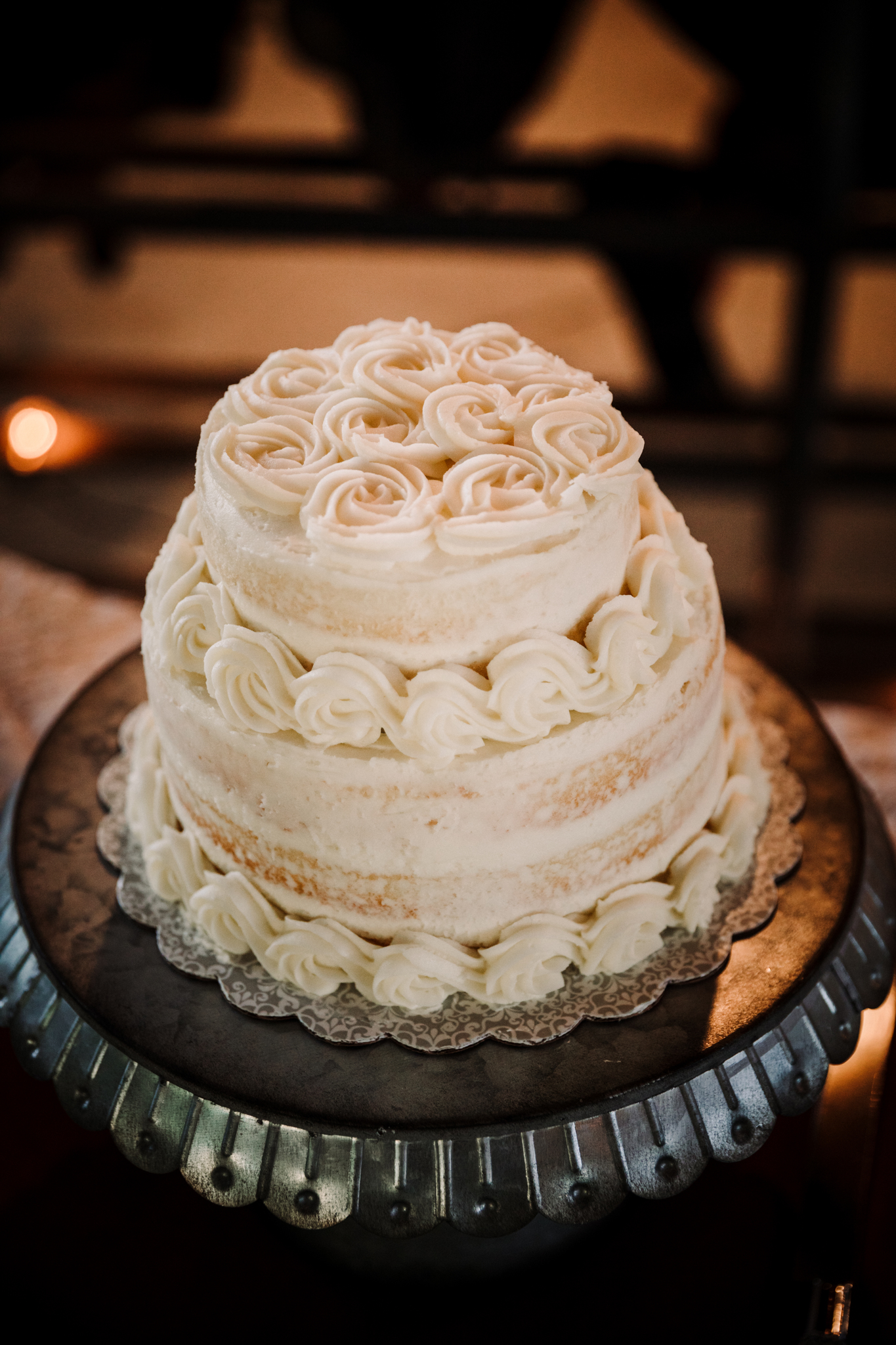 Simple Rustic Wedding Cake: Billie-Shaye Style Wedding Photography featured on Nashville Bride Guide