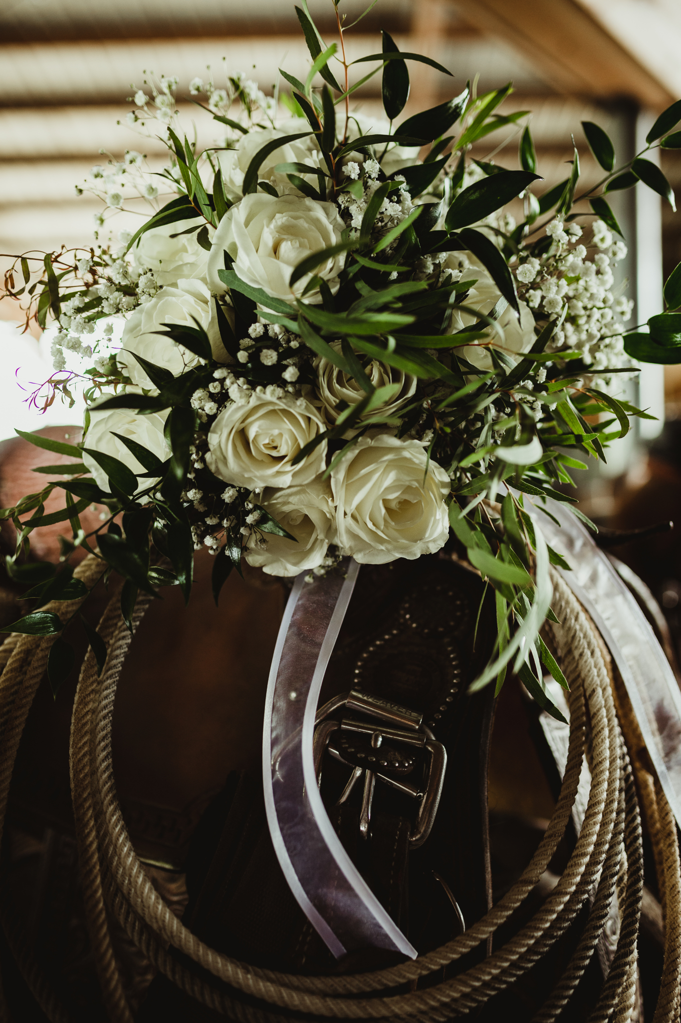 White and Greenery Wedding Bouquet: Billie-Shaye Style Wedding Photography featured on Nashville Bride Guide
