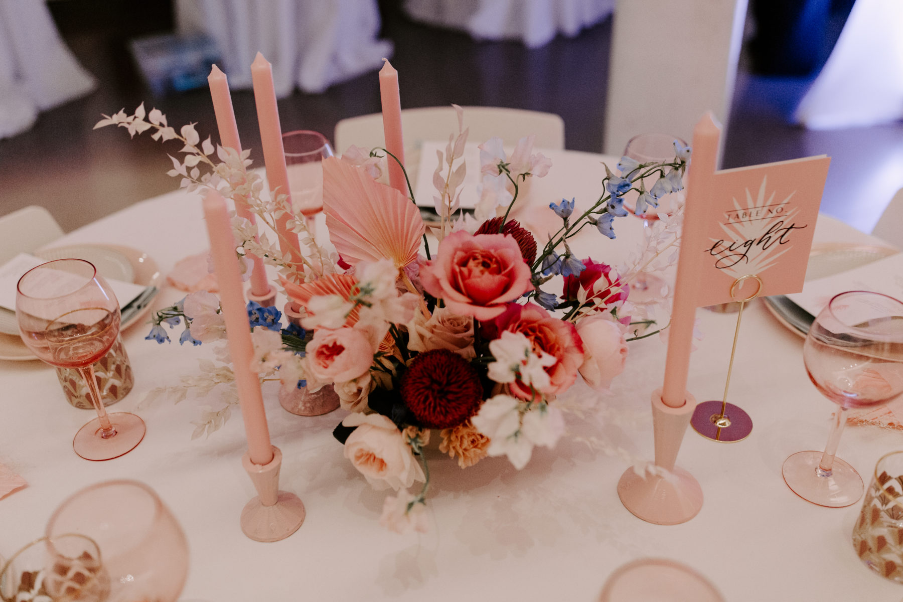 Colorful Wedding Centerpieces: Abigail Bridges Photography featured on Nashville Bride Guide