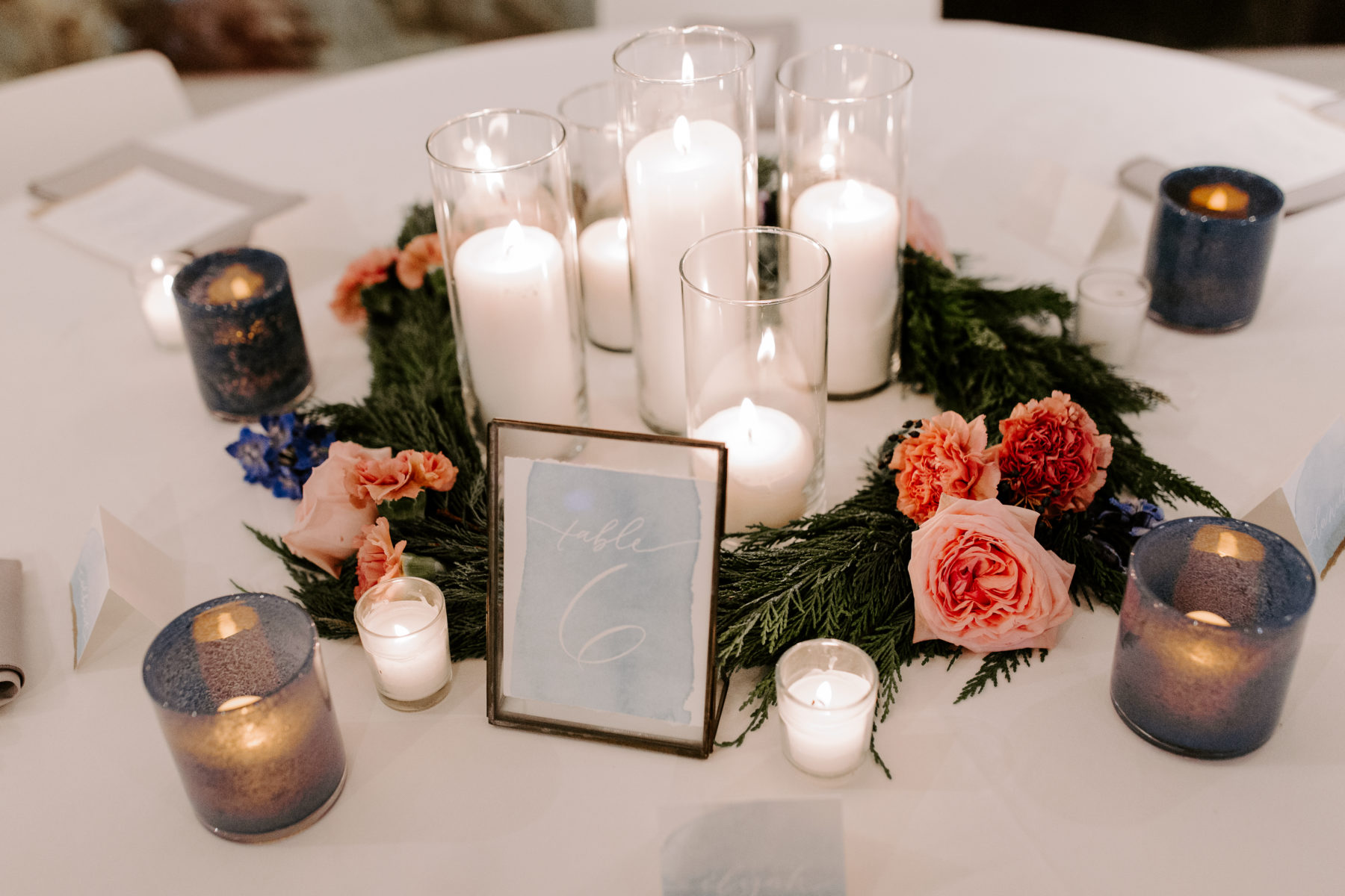 Candle Wedding Centerpieces: Abigail Bridges Photography featured on Nashville Bride Guide