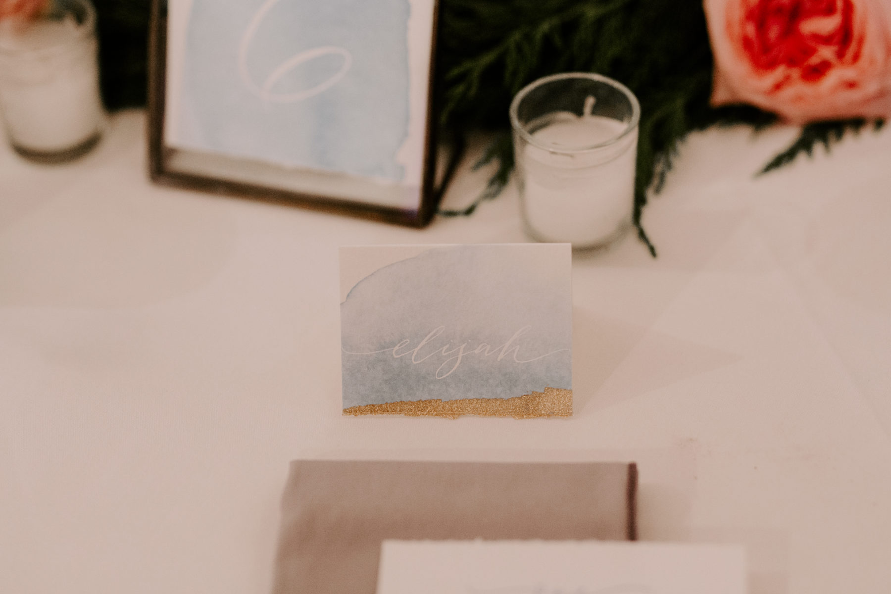 Wedding escort card: Abigail Bridges Photography featured on Nashville Bride Guide