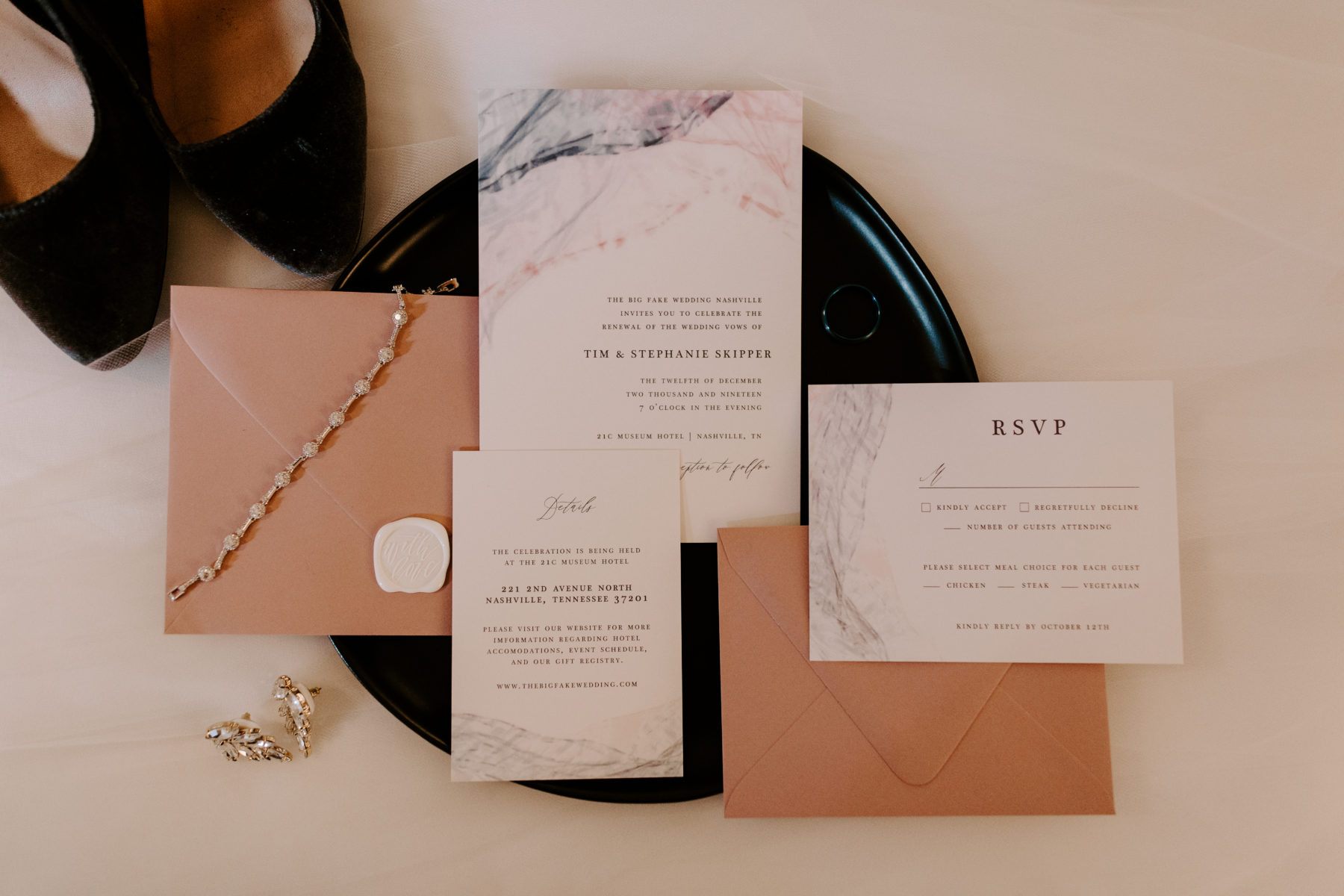 Wedding Invitation Suite: Abigail Bridges Photography featured on Nashville Bride Guide