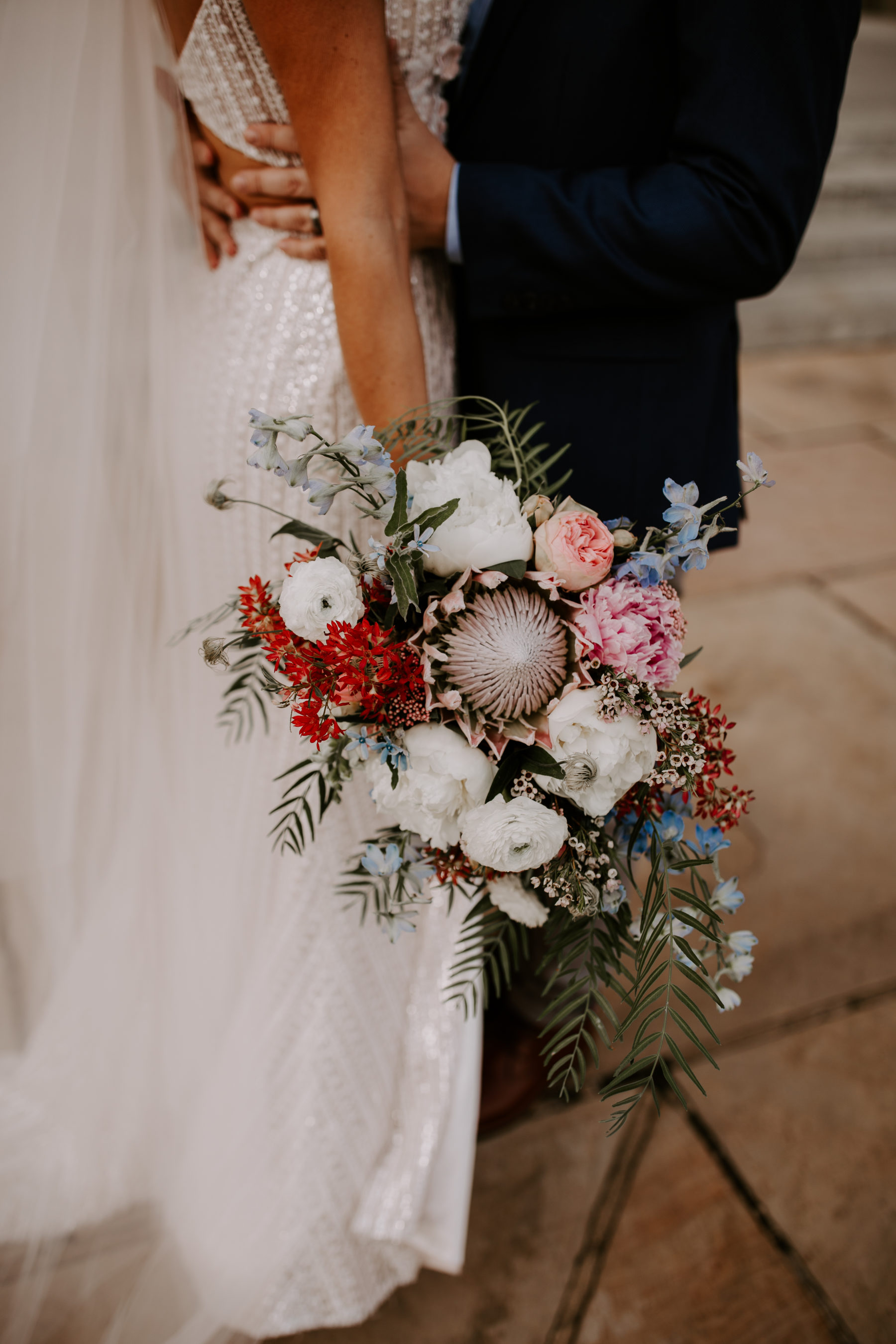 Protea Wedding Bouquet: Abigail Bridges Photography featured on Nashville Bride Guide