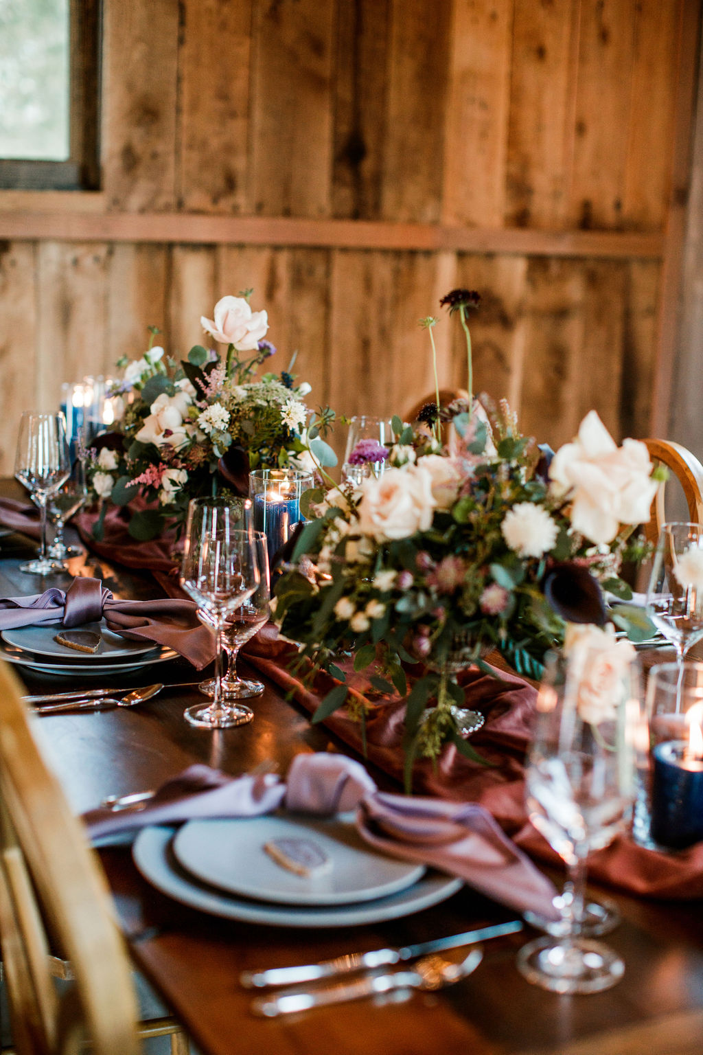 Wedding tablescape: Moody Spring Styled Shoot and Cedarmont Farm featured on Nashville Bride Guide