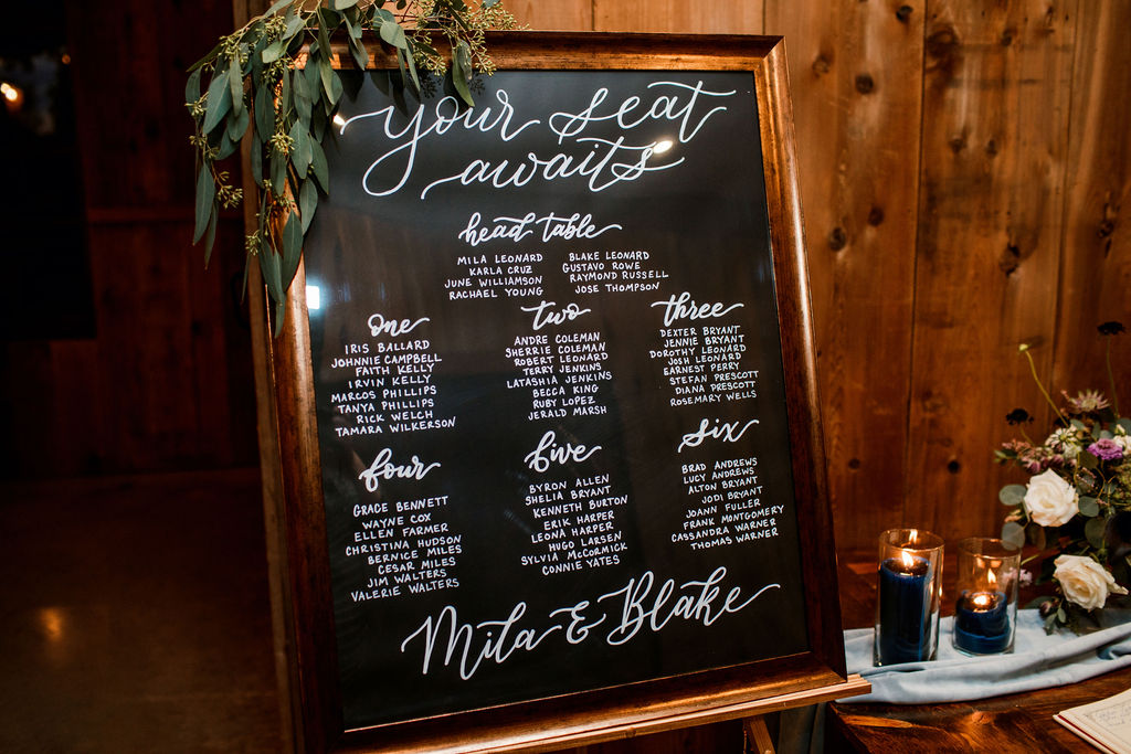 Wedding seating chart display: Spring Wedding Inspiration captured by John Myers Photography featured on Nashville Bride Guide