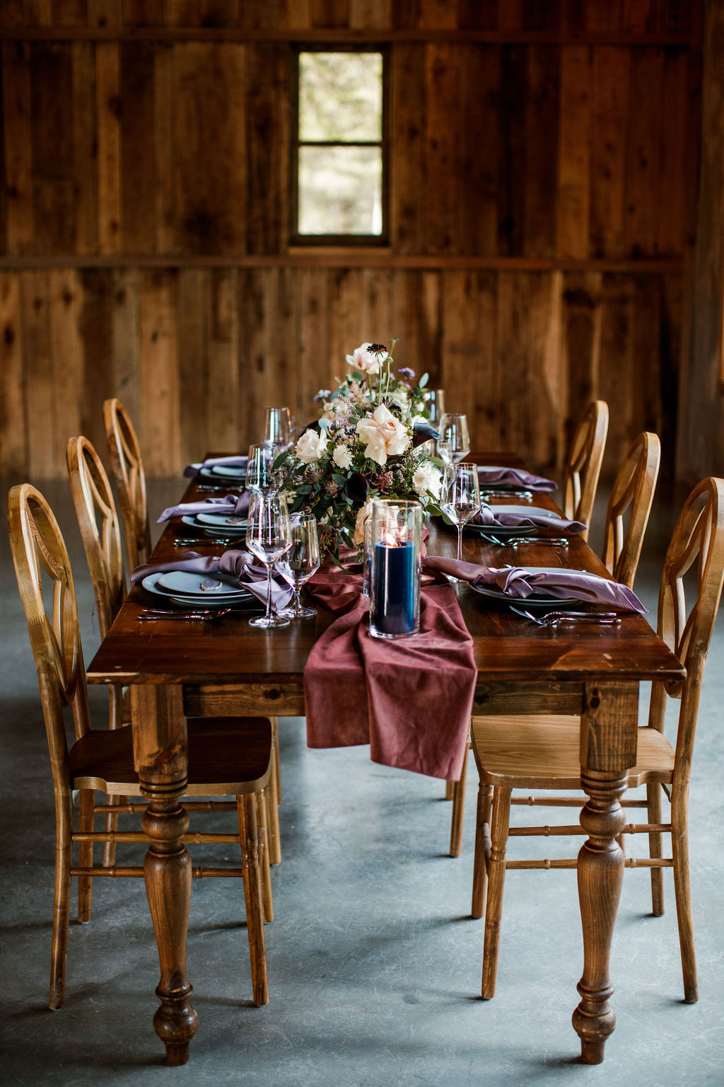 Southern Events Rentals wedding decor: Moody Spring Styled Shoot and Cedarmont Farm featured on Nashville Bride Guide