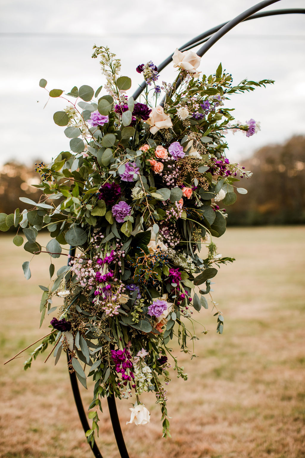Wedding flower decor: Moody Spring Styled Shoot and Cedarmont Farm featured on Nashville Bride Guide