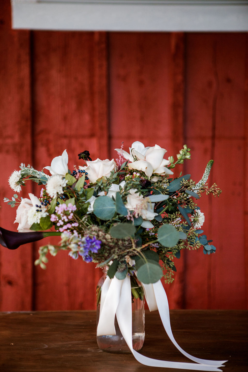Spring wedding bouquet: Moody Spring Styled Shoot and Cedarmont Farm featured on Nashville Bride Guide