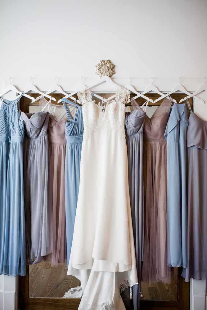 Bridesmaid Dresses: Fall Graystone Quarry Wedding featured on Nashville Bride Guide