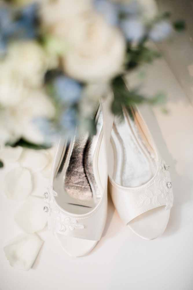 Bridal Shoes: Fall Graystone Quarry Wedding featured on Nashville Bride Guide