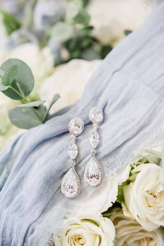 Wedding Earrings: Fall Graystone Quarry Wedding featured on Nashville Bride Guide