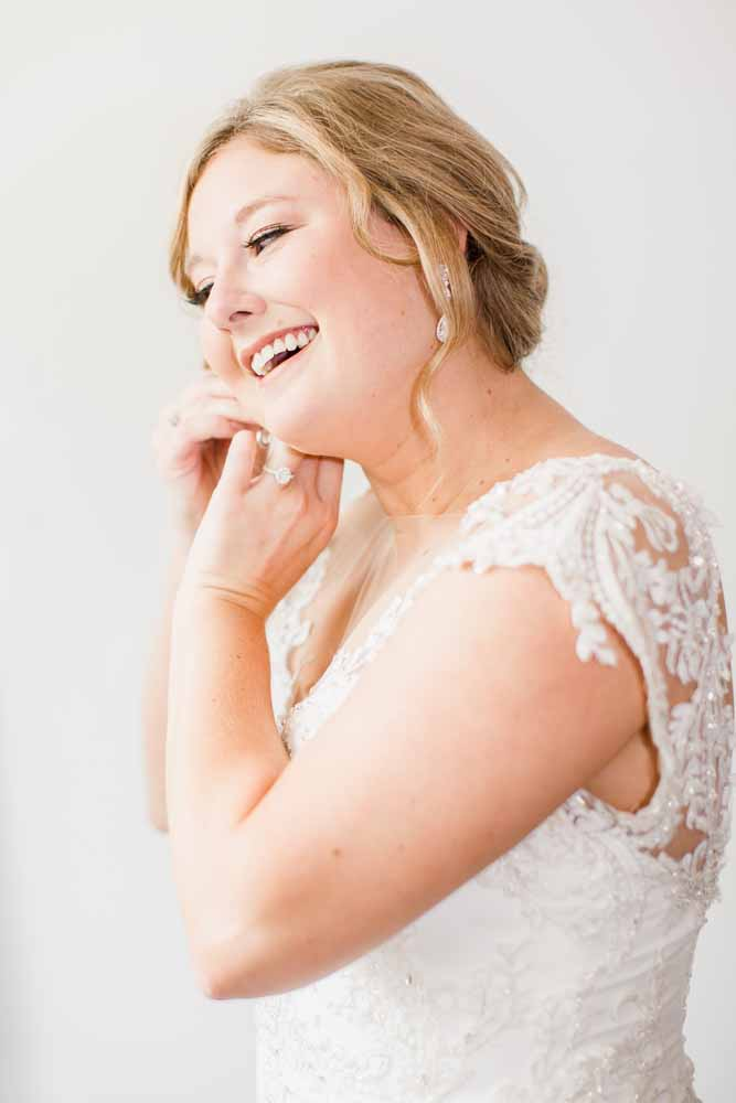 The White Room Wedding Dress: Fall Graystone Quarry Wedding featured on Nashville Bride Guide