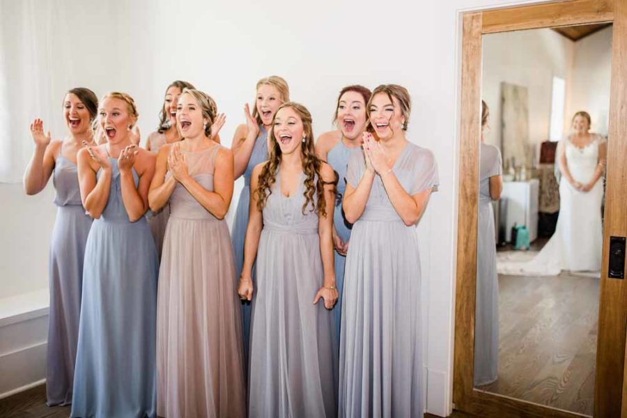 Pastel Bridesmaid Dresses: Fall Graystone Quarry Wedding featured on Nashville Bride Guide