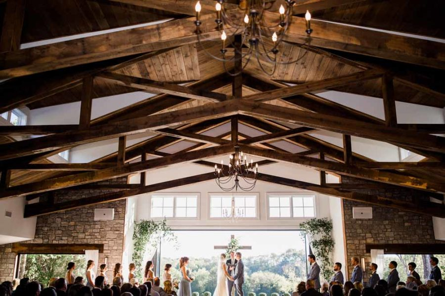 Tennessee Wedding Ceremony: Fall Graystone Quarry Wedding featured on Nashville Bride Guide