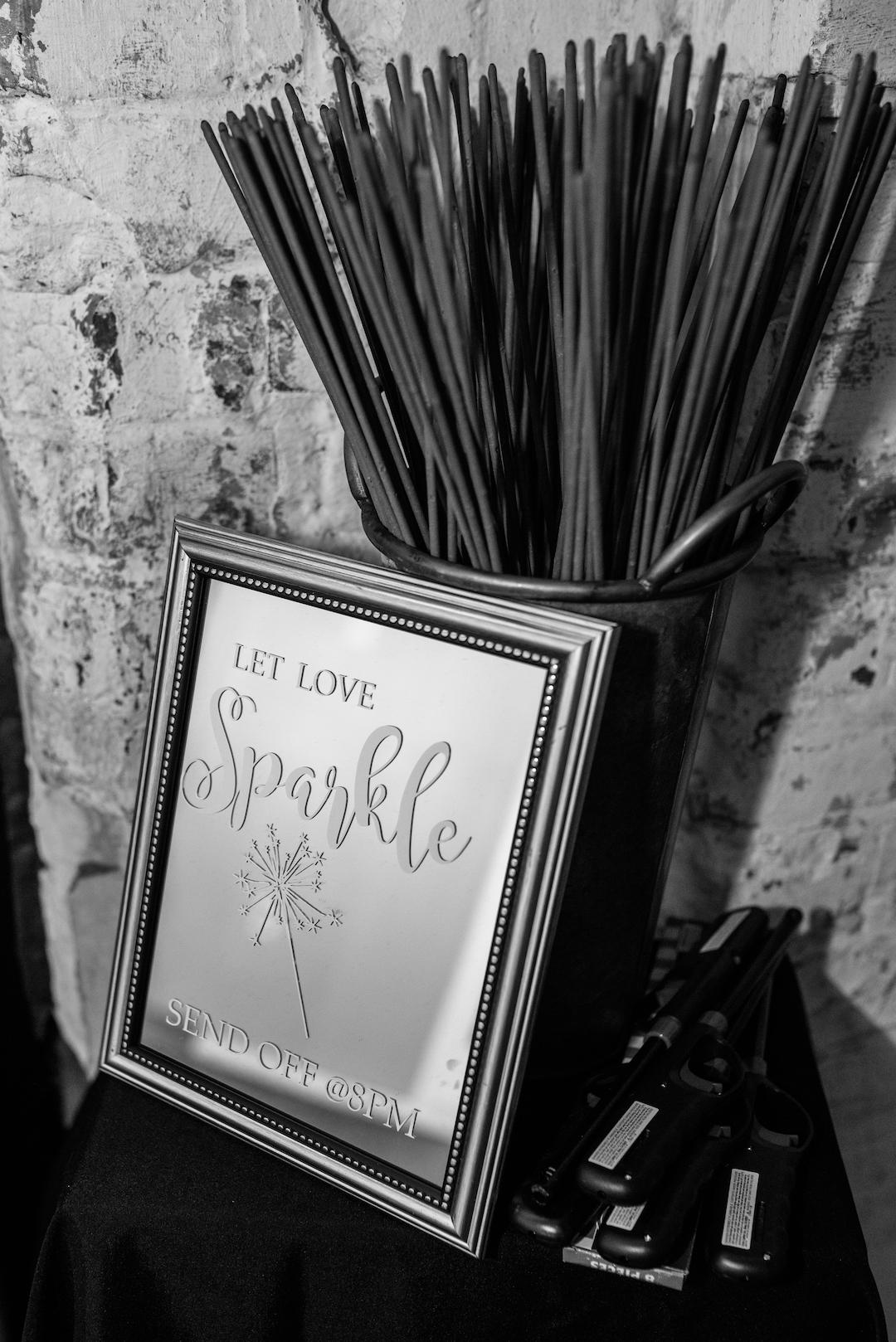 Sparkler Send-off: Romantic Blush & Metallic Inspired Wedding featured on Nashville Bride Guide