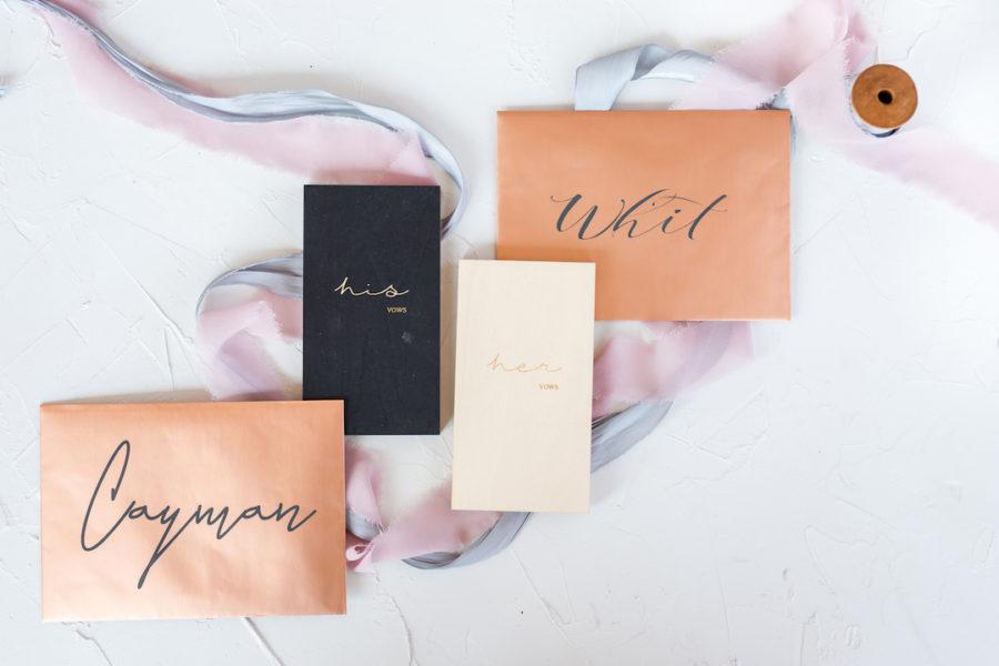Wedding Stationery: Romantic Blush & Metallic Inspired Wedding featured on Nashville Bride Guide