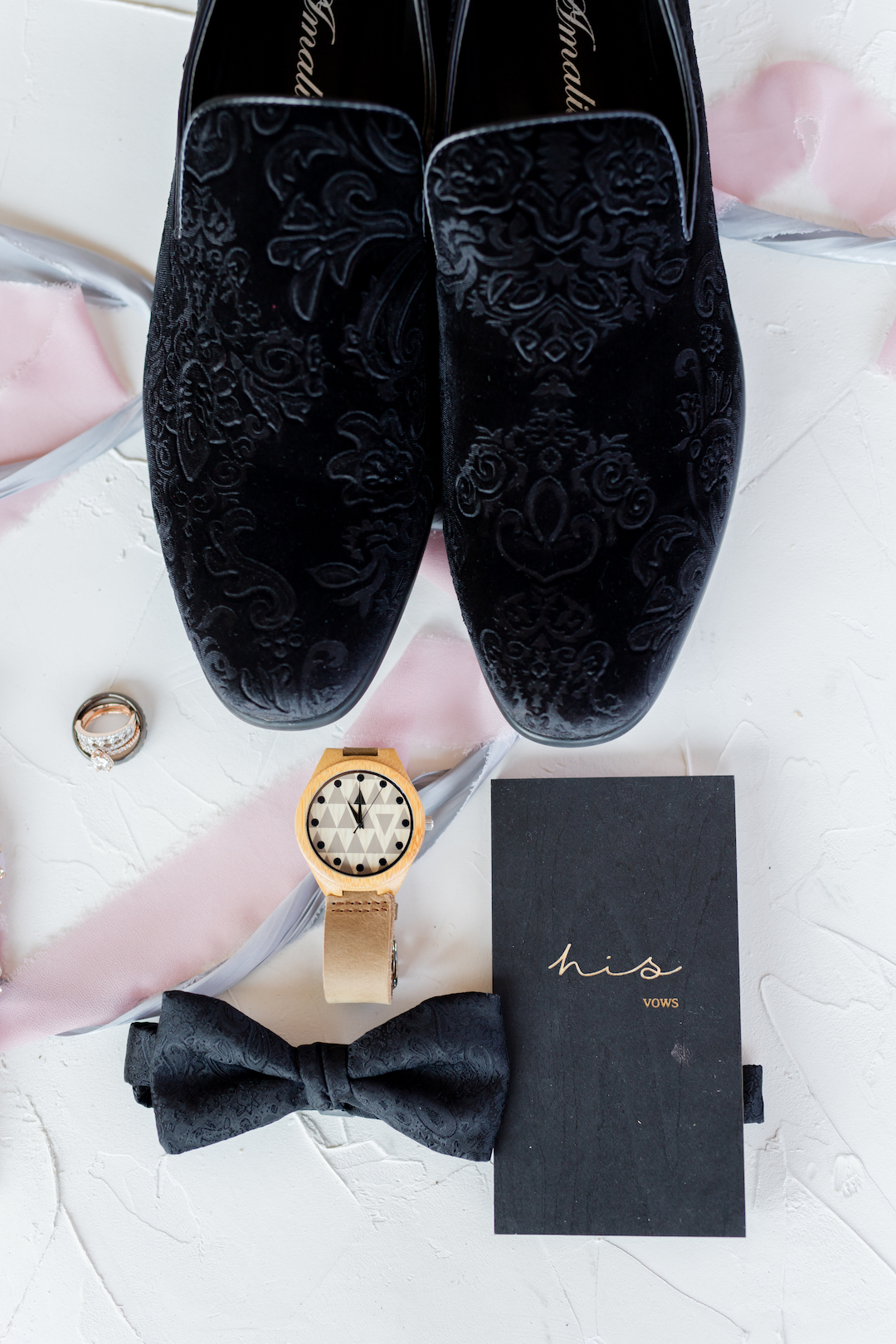 Grooms Accessories: Romantic Blush & Metallic Inspired Wedding featured on Nashville Bride Guide