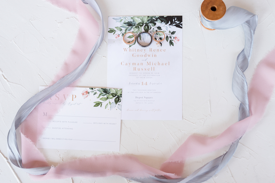 Romantic Blush & Metallic Inspired Wedding featured on Nashville Bride Guide