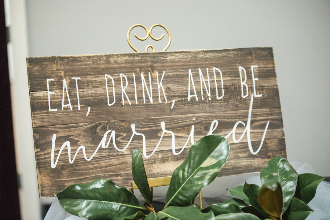 Rustic Wedding Sign: Romantic Blush & Metallic Inspired Wedding featured on Nashville Bride Guide