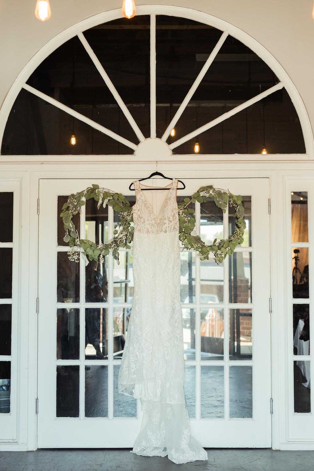 David's Bridal Wedding Dress: Romantic Blush & Metallic Inspired Wedding featured on Nashville Bride Guide