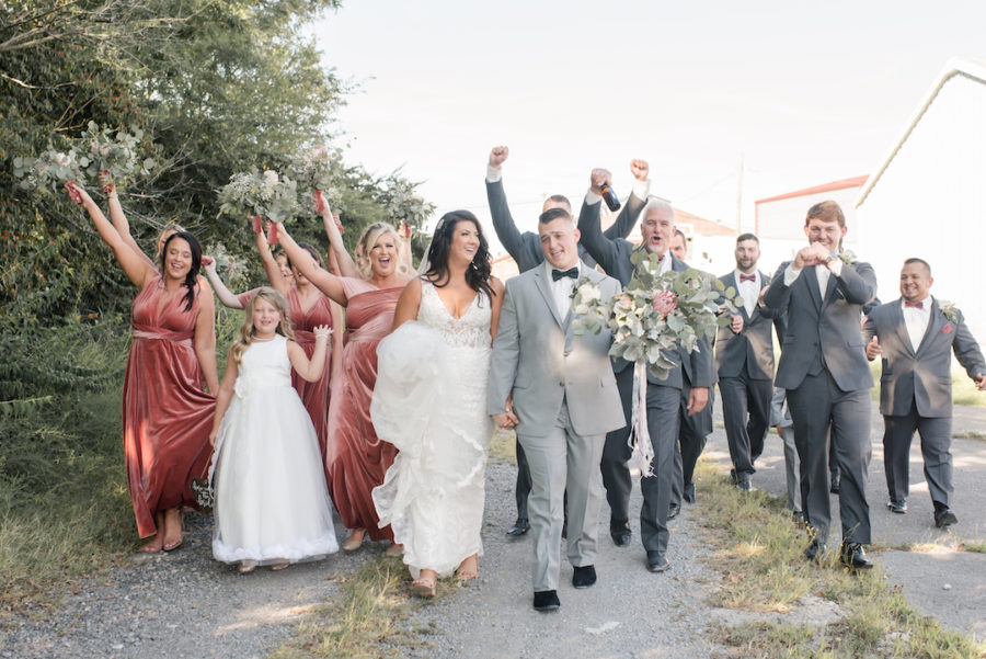 Romantic Blush & Metallic Inspired Wedding featured on Nashville Bride Guide