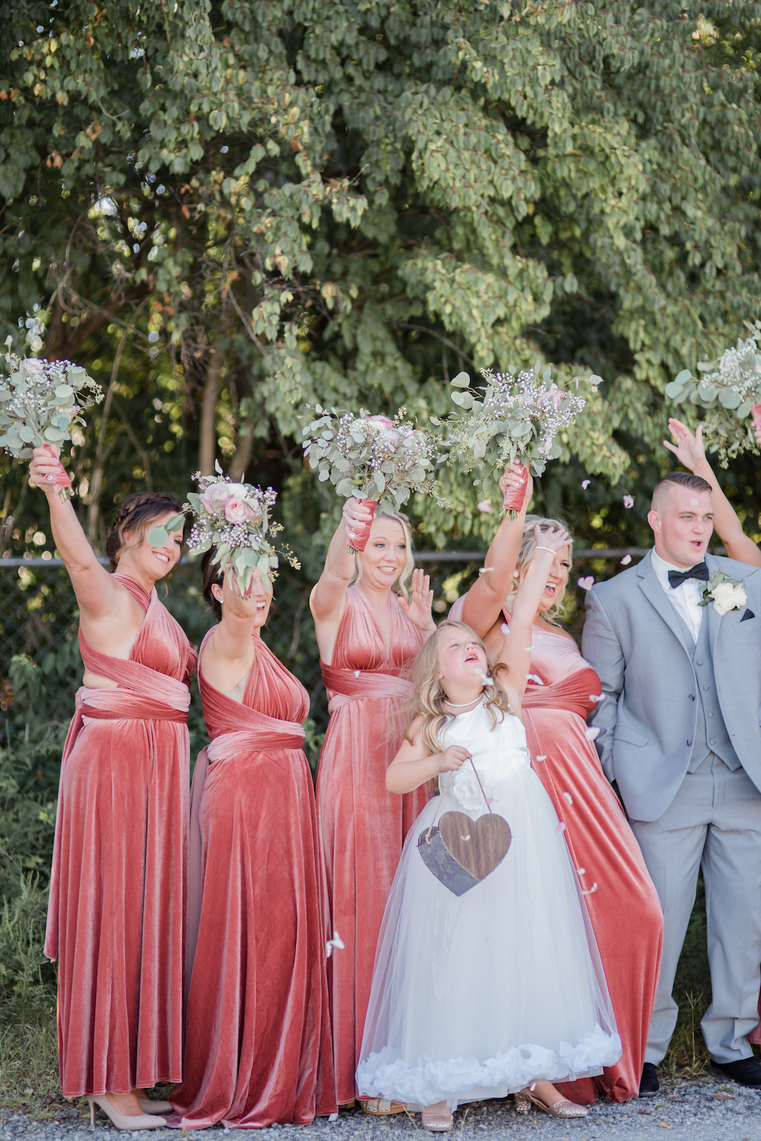 Pink Bridesmaids Dresses: Romantic Blush & Metallic Inspired Wedding featured on Nashville Bride Guide
